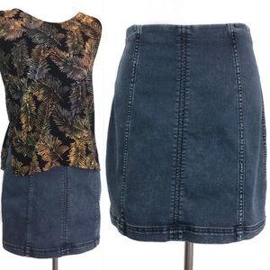 We The Free Modern Femme Denim Mini Panel Skirt 12